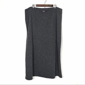 RETRO Chevron Midi Skirt Plus Size 3X
